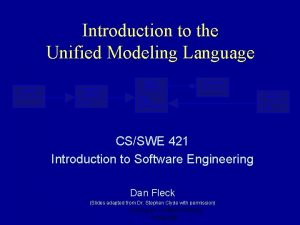 Introduction to the Unified Modeling Language Classifier Generalizable