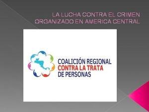 LA LUCHA CONTRA EL CRIMEN ORGANIZADO EN AMERICA