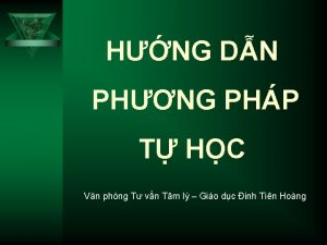 HNG DN PHNG PHP T HC Vn phng