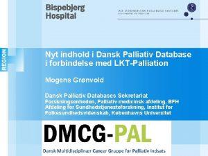Nyt indhold i Dansk Palliativ Database i forbindelse