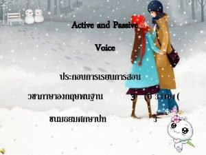 3 finite verb active voice passive voice past