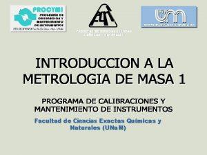 FACULTAD DE CIENCIAS EXACTAS QUMICAS Y NATURALES Facultad