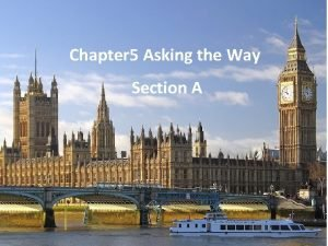 Chapter 5 Asking the Way Section A How