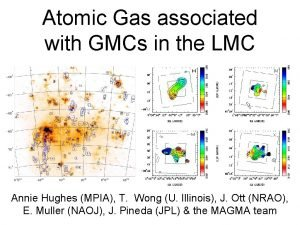 Atomic Gas associated with GMCs in the LMC