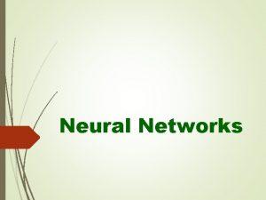 Neural Networks 1 Hidden Layer Neural Networks A