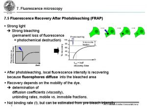 7 Fluorescence microscopy 7 5 Fluorescence Recovery After