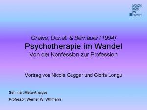 Grawe Donati Bernauer 1994 Psychotherapie im Wandel Von