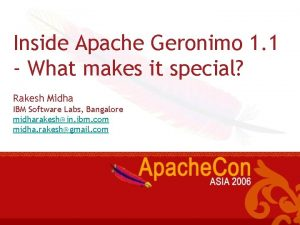 Inside Apache Geronimo 1 1 What makes it