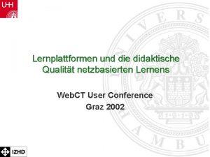Lernplattformen und die didaktische Qualitt netzbasierten Lernens Web