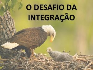 O DESAFIO DA INTEGRAO Integrar Adaptar algum a