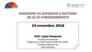 SINDROME DI ASPERGER E AUTISMO AD ALTO FUNZIONAMENTO