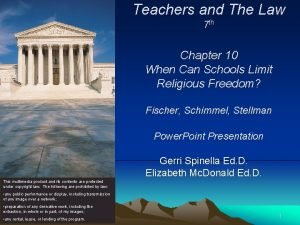 Teachers and The Law 7 th Chapter 10