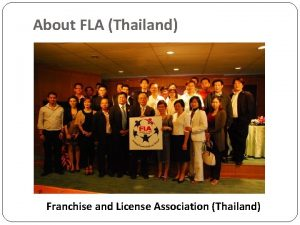 About FLA Thailand Franchise and License Association Thailand