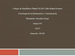 Colegio de Bachilleres Plantel 20 Del Valle Matas