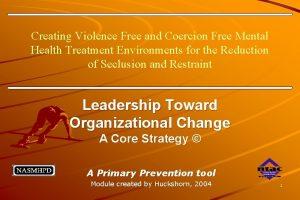 Creating Violence Free and Coercion Free Mental Health