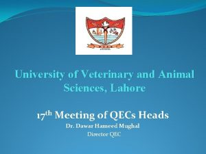 University of Veterinary and Animal Sciences Lahore 17