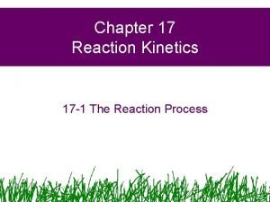 Chapter 17 Reaction Kinetics 17 1 The Reaction