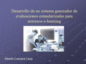 Desarrollo de un sistema generador de evaluaciones estandarizadas