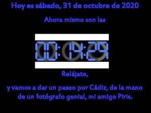 Hoy es sbado 31 de octubre de 2020