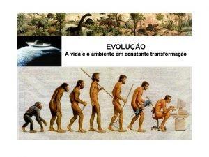 EVOLUO A vida e o ambiente em constante