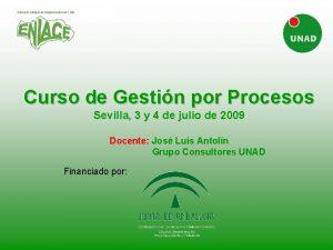 Curso de Gestin por Procesos Sevilla 3 y
