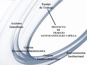Equipo de Trabajo Acciones Inmediatas PROYECTO DE TRABAJO
