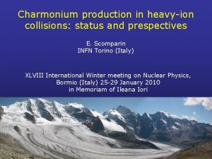 Charmonium production in heavyion collisions status and prespectives