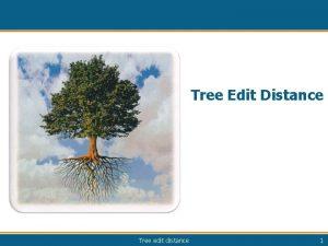 Tree Edit Distance Tree edit distance 1 TED