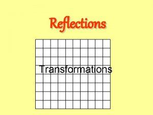 Reflections Transformations Starter Objective Recap on vertical horizontal