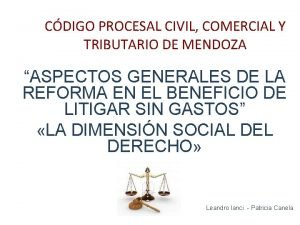 CDIGO PROCESAL CIVIL COMERCIAL Y TRIBUTARIO DE MENDOZA