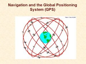 Navigation and the Global Positioning System GPS The
