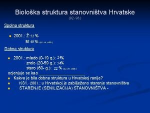 Bioloka struktura stanovnitva Hrvatske 92 93 Spolna struktura