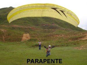 PARAPENTE El parapente Contraccin de paracadas pendiente Nacido