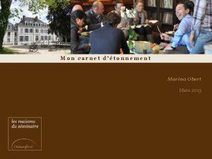 Mon carnet dtonnement Marina Obert Mars 2013 Ce
