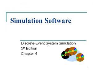 Simulation Software DiscreteEvent System Simulation 5 th Edition