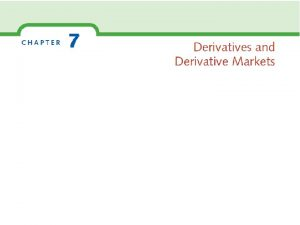 Derivatives Hedging and Speculating Warren Buffet Oracle of