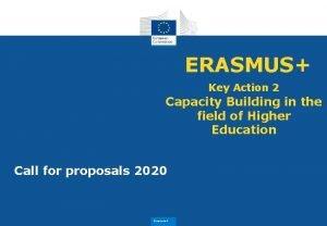 ERASMUS Key Action 2 Capacity Building in the