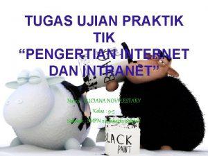 TUGAS UJIAN PRAKTIK PENGERTIAN INTERNET DAN INTRANET Nama