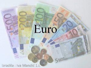 Euro Izradila Iva Mandi 1 i Simbol Nacrt
