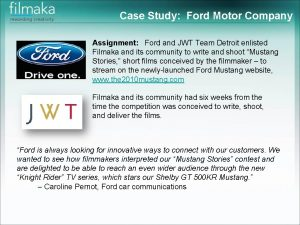 Case Study Ford Motor Company Assignment Ford and