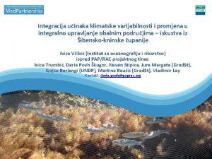 Integracija uinaka klimatske varijabilnosti i promjena u integralno