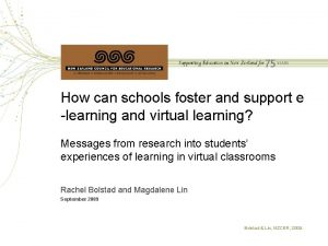 How can schools foster and support e learning