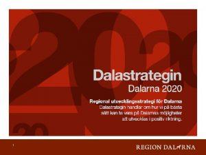 1 Europa 2020 Smart Tillvxt Hllbar Tillvxt fr