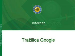 Udbenik informatike za 6 razred Internet Trailica Google