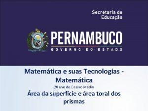 Matemtica e suas Tecnologias Matemtica 2 ano do
