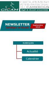 NEWSLETTER Juridique et fiscale Septembre 2019 RUBRIQUES Actualit