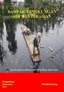 DAMPAK LINGKUNGAN AIR DAN PERAIRAN http www antarafoto