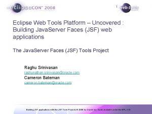 1 Eclipse Web Tools Platform Uncovered Building Java