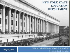 NEW YORK STATE EDUCATION DEPARTMENT May 19 2015