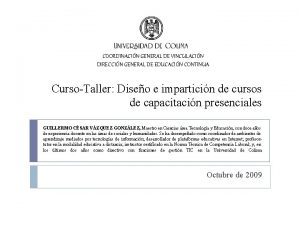 COORDINACIN GENERAL DE VINCULACIN DIRECCIN GENERAL DE EDUCACIN
